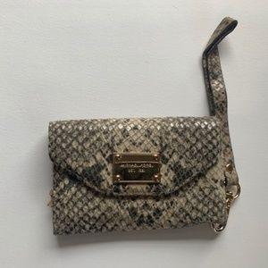 Michael Kors Snakeskin Wallet with Phone Holder
